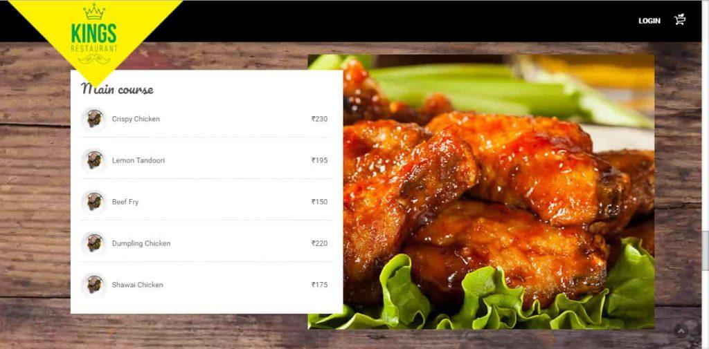 kings restaurant online order athul seogrey