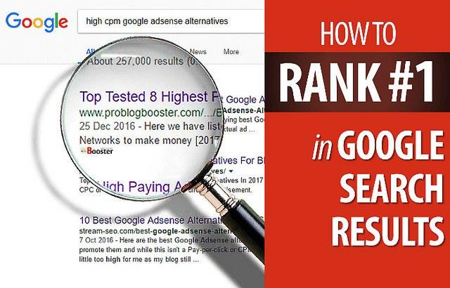 Rank in google's top 10